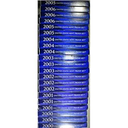 3-EACH 2000-2006 U.S. PROOF SETS