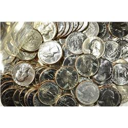 $46.25 FACE VALUE MIXED BU QUARTERS: 1980-89