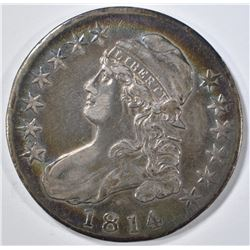 1814 BUST HALF DOLLAR AU COLOR