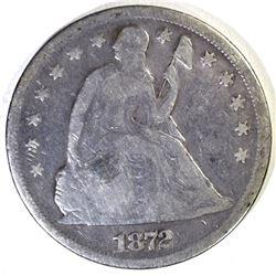 1872 SEATED DOLLAR, GOOD+