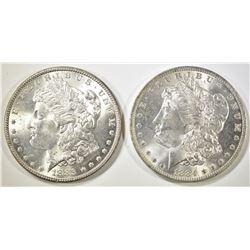 1884-O & 1885 MORGAN DOLLARS   BU