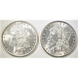 1888 & 1889 MORGAN DOLLARS   BU