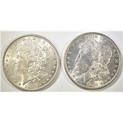 1890 & 1897 MORGAN DOLLARS   BU