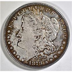 1878 7/8TF MORGAN DOLLAR AU TONED