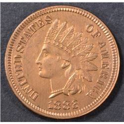 1882 INDIAN HEAD CENT  GEM BU  RED