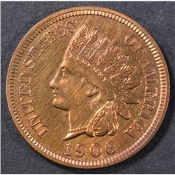 1906 INDIAN HEAD CENT  GEM BU RED