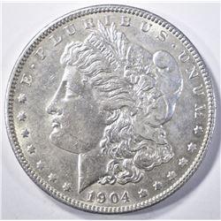 1904 MORGAN DOLLAR   AU/BU