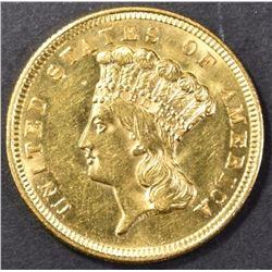 1856 $3.00 GOLD CH BU/ GEM BU