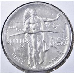 1938-S OREGON TRAIL COMMEM HALF DOLLAR, CH BU