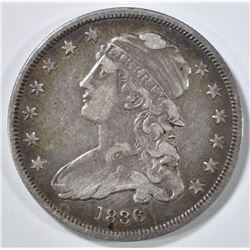 1836 BUST QUARTER XF DIE BREAK