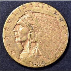 1926 $2.50 GOLD INDIAN AU/BU