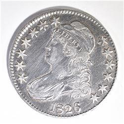 1826 BUST HALF DOLLAR, AU