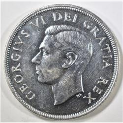 1948 CANADIAN DOLLAR, GEM BU