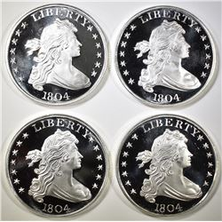 4-1804 BUST DOLLAR INSPIRED 1oz SILVER ROUNDS