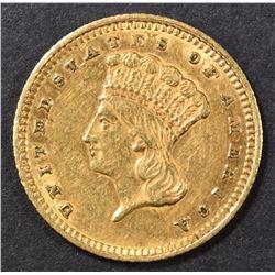 1861 $1.00 GOLD AU
