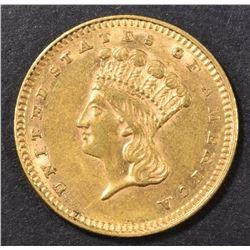 1862 $1.00 GOLD AU/BU