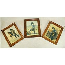 Group of Cowgirl Lithographs