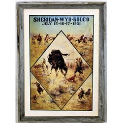 Sheridan Wyo Rodeo Poster