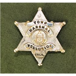 Telluride Marshall's Badge