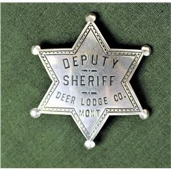 Deerlodge Sheriff's Badge
