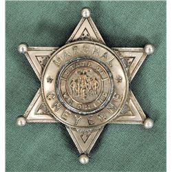 Cheyenne Marshall's Badge