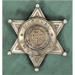 Cheyenne Marshall's Badge