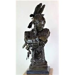 Large Native American Bronze