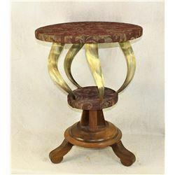 Horn Parlor Table