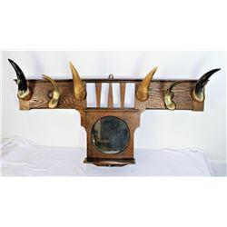Horn Hat Rack