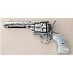 Engraved Colt Single Action Revolver