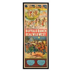 Large Buffalo Ranch Wild West Poster