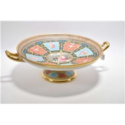 "Copeland Art-Union of London Greek Revival Tazza, 13 1/2"" in diameter"