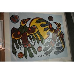 "Two unframed Norval Morriseau prints including ""Thunderbirds-Sundance"" and ""Sacred Thunderbird"""