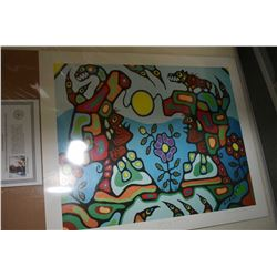 "Two unframed Norval Morriseau prints including ""Gathering of Shaman"" and ""Animal Spirits"""