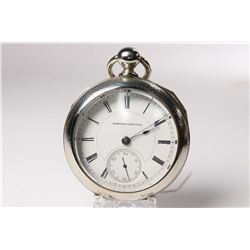Hampden size 18 pocket watch, Hayward model 1, 15 jewel, serial # 312808, dates to 1884. Gilt full p