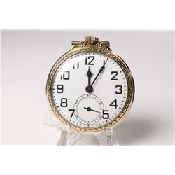 Elgin size 16 pocket watch, 17 jewel, grade 616, serial # F176668 and dates to 1950. 3/4 nickel plat