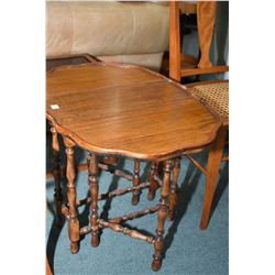 Small mahogany gate legged drop leaf occasional table
