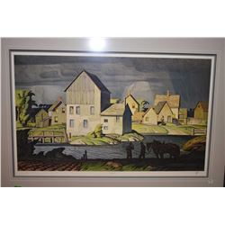 "Framed limited edition print ""Aftermath"" from an original A. J. Casson painting, 77/920"