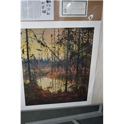 "Two unframed Tom Thomson Group of Seven prints including "" Byng Inlet"" and ""Northern River"""