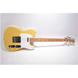 Fender Telecaster Squire six string guitar in hard case, Serial # E1010799 made by Samick, Korea