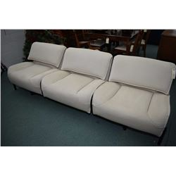 Top quality interesting three seat sofa/sectional with each outer section can rotate in and all thre