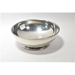 "Tiffany and Co. pewter dish, 7 1/2"" in diameter"