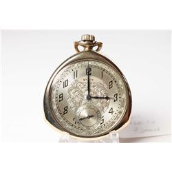 Elgin size 12, 7 jewel, grade 303, model 3 pocket watch. Serial #27139356 dates to 1925. 3/4 nickel
