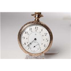 T. Eaton Co. size 18, 17 jewel pocket watch Serial #197811, dates to 1892. Nickel plate stem wind an