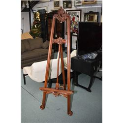 Victorian style mahogany picture display/ easel