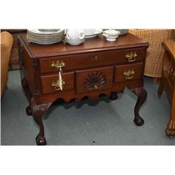 Antique Chippendale style four drawer server with carved ball and claw feet