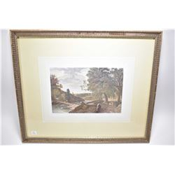 """Two framed prints including print of a coloured French etching titled """" Defsine par Storelli""""and an"""