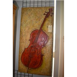 """Mounted acrylic on board painting titled and signed on verso """"Melody for my love"""" by Chrissandera Ne"""