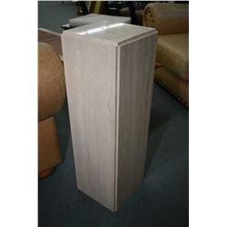 """Travertine marble pedestal, 29"""" in height"""