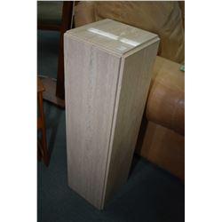 """Travertine marble pedestal, 32"""" in height"""
